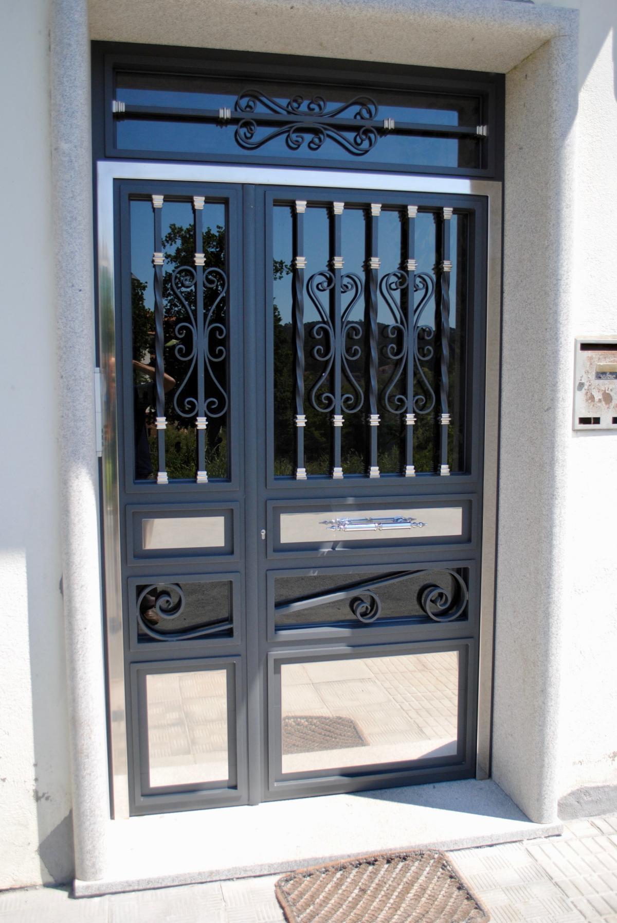 Puertas de portal de aluminio soldado